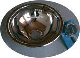 Waschbecken Einlegemulde Spüle 295mm Edelstahl glanz rund + Ablauf