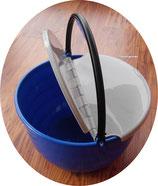 Eimer blau mit Henkel Klappdeckel grau 14 L Spüleimer Geschirr