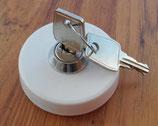 Ersatz Wasserdeckel mit 2 Schlüsseln für Einfüllstutzen versenkt weiß