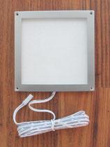 Leuchte 10x10 cm Rahmen silber 24 SMD LED Panel 12V 3W 140L Aufbau