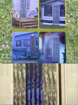 Flauschvorhang Chenille Tür Vorhang 56 x 205 cm blau/grau