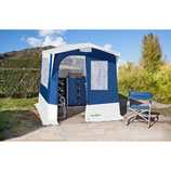 Gerätezelt Küchenzelt Gusto 1 blau grau 150x150 cm Vorzelt Zelt  NEU