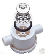 Ablaufgarnitur weiß 2er Ablauf 25mm abschraubbarer Siphon Stöpsel SMEV