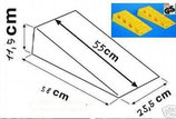 Auffahrkeile Keil Ausgleichskeile gelb Fiamma Jumbo 25,5cm 1 Paar