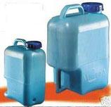 Wasserkanister Weithalskanister Kanister blau 15 L Griff