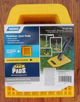 Stützplatten 4 Stück ≙3,73€/St. Jack Pads gelb Stützen Ausdrehstütze