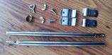 Zeltstange Vorzelt Zelt Stange Stahl 22mm 50-80cm Dachauflagestange