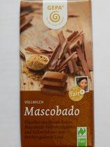 Schokolade Vollmilch Mascobado