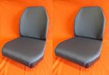 4 Sitzbezüge Stoff grau, 2x Sitz+ 2x Lehne, Unimog 406- 421 Standard