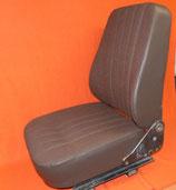 1 Lehnenbezug U1000+, Stoff braun, seitlich Kunstleder braun.