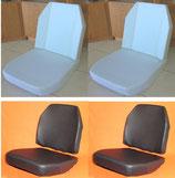 4 Schaumkerne+ 4 Sitzbezüge Kunstleder schwarz Unimog 406- 421 Standard