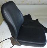2 Sitzbezüge in Kunstleder schwarz, ISRI Derby 2000, 1x Sitz, 1x Lehne.