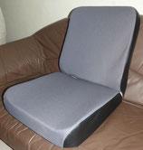 2 Sitzbezüge Stoff grau+ 2 Schaumkerne Unimog 406- 421 ISRI 5002