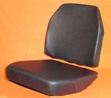 2 Sitzbezüge Kunstleder schwarz+ 2 Schaumkerne Unimog 406- 421 Standard
