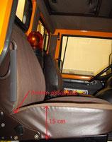 2 Sitzbezüge Unimog 417 Beifahrersitz Stoff braun, 1x Sitz+ 1x Lehne