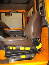 2 Sitzbezüge Unimog 417 ISRI 6500 Stoff braun, 1x Sitz, 1x Lehne