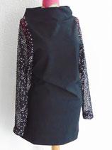 Jerseykleid mit Spitzenärmeln