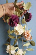 Guirlande de fleurs. Hortensia
