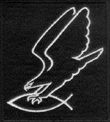 Adler greift Fisch Aufnäher