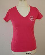T-Shirt tailliert mit V-Ausschnitt