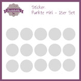 "Sticker ""Punkte"" grau mini - 15er Set"