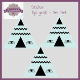 "Sticker ""Tipi"" mint groß - 3er Set"