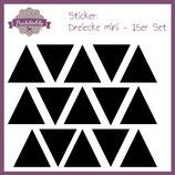"Sticker ""Dreiecke"" schwarz mini - 15er Set"