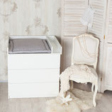 Wickelaufsatz + Trennfach für IKEA Malm, Brusali Kommode, weiß