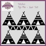 """Sticker Mix """"Tipi & Dreiecke"""" schwarz klein - 16er Set"""