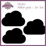 """Sticker schwarze """"Wolken"""" groß - 3er Set"""