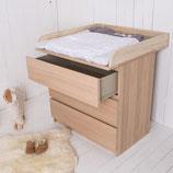 Naturholz! Wickelaufsatz für alle IKEA Malm, Brusali Kommoden.