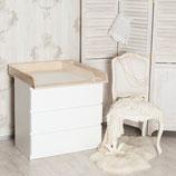 Holz + Trennfach! Wickelaufsatz für IKEA Malm, Hemnes Kommode
