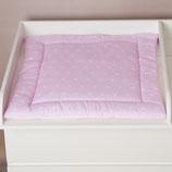 Puckdaddy Sterne rosa+ Wickelauflage, Wendeauflage für Aufsätze mit Trennfach