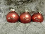 Christbaumkugeln / Weihnachtskugeln aus Glas mit Wunschgravur
