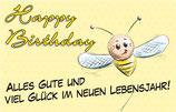 """Glückskärtchen """"Happy Birtday"""""""