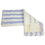 MICROFASERMOPP - SCHIEFER, weiß/blau mit Lasche + Tasche, 1 Stk.