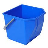 EIMER aus Kunststoff, blau + rot, 17 Lit., 1 Stk.