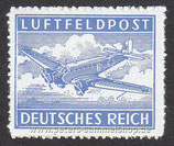 D-DR-FP-001-B - Zulassungsmarke für Luftfeldpostbriefe