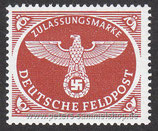 D-DR-FP-002-A - Zulassungsmarke für Feldpostpäckchen