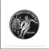 NIU-063 - Fußball WM 1994 - Spieler und Freiheitsstatue