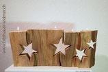 Adventskerzenhalter 4-teilig mit Sternen