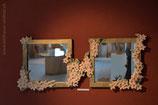 2 Spiegel mit Blumenmuster