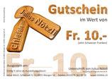 Allgemeiner Gutschein für Fr. 10.-