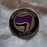Antifaschistische Aktion Lila/Schwarz Metalpin