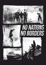 Sticker No Nations No Borders