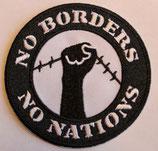 Aufnäher No Borders gestickt