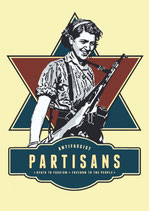 Sticker Antifascist Partisans