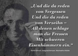 Sticker Und die da reden...Bertold Brecht