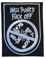 Aufnäher Nazi Punks Fuck Off gestickt