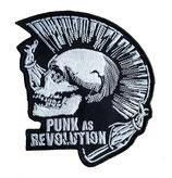 Aufnäher Punk As Revolution gestickt